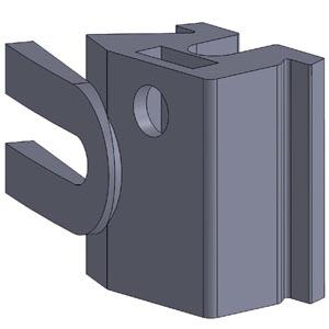 Solidworks 3D tegning af lednings aflastning